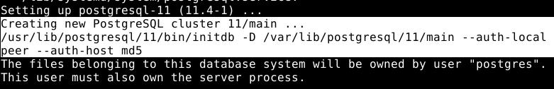 PostgreSQL Database Initialization