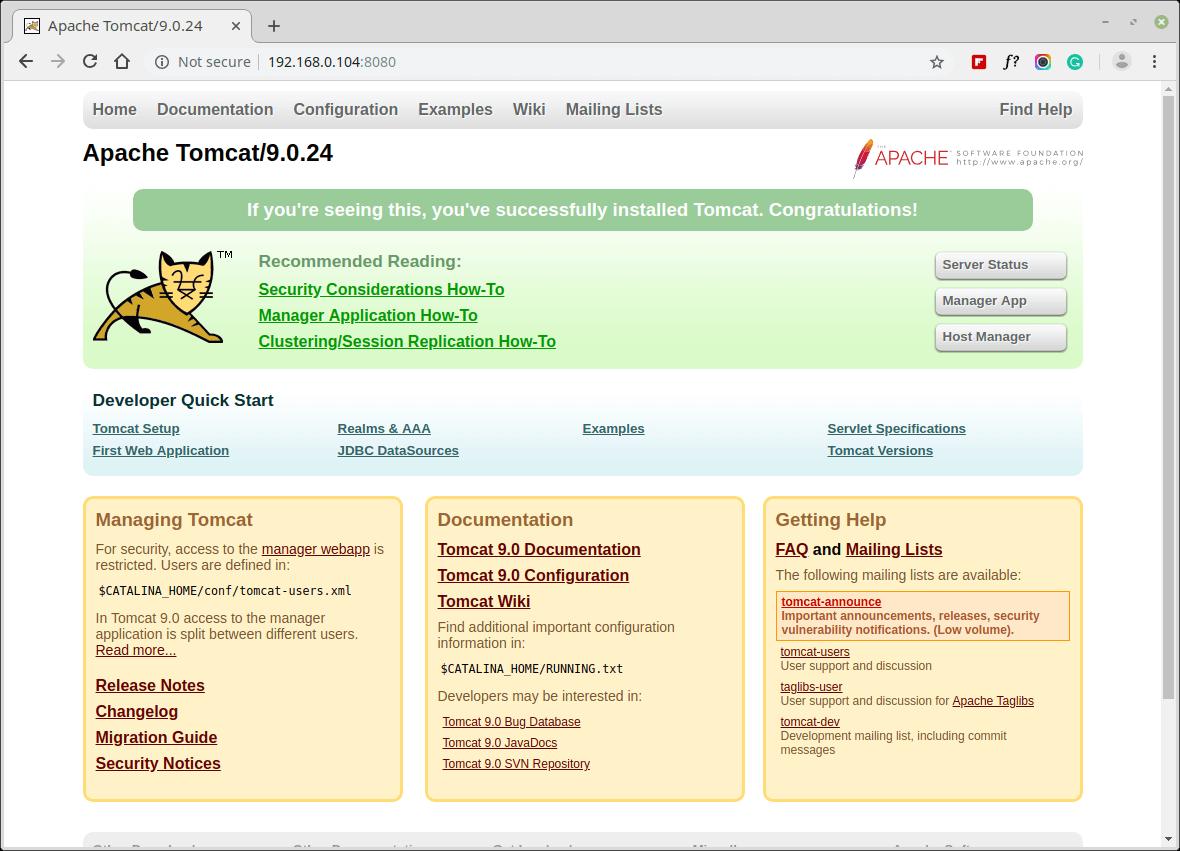 Apache Tomcat Dashboard