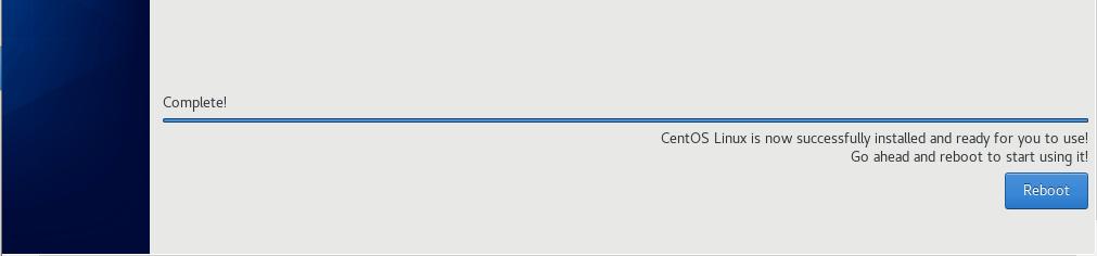 CentOS 8 Installation Complete