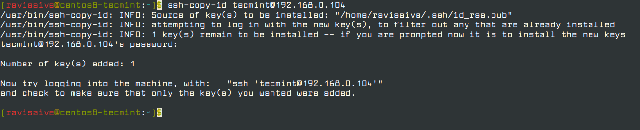 Copy SSH Key to Remote Linux