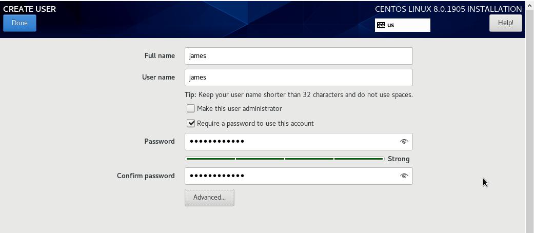 Create User Account