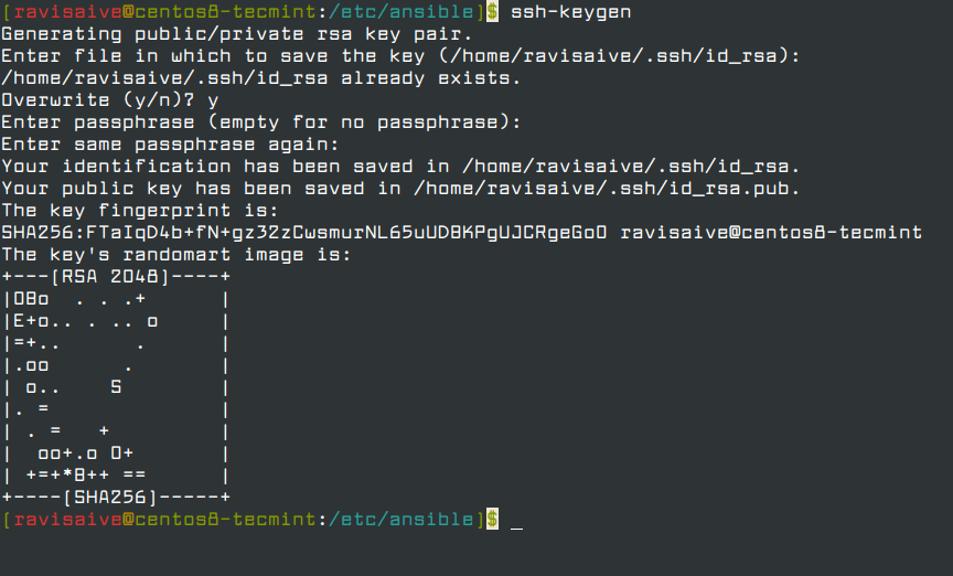 Generate SSH Keys for Ansible