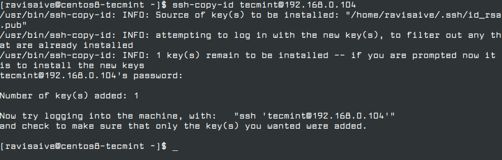 Install SSH Key on Remote Linux Server