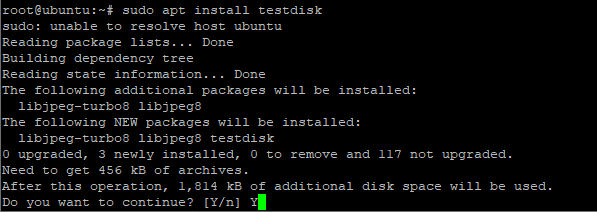 Install Testdisk on Ubuntu and Debian