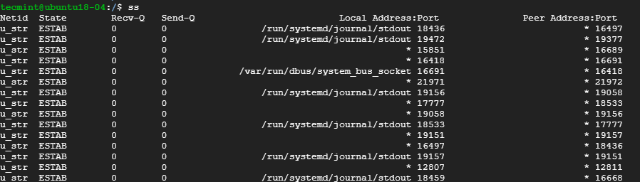 List All Connections in Linux