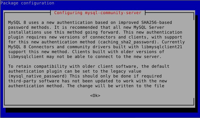 MySQL Authentication Info