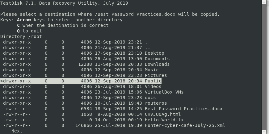 Recover Deleted File in Linux