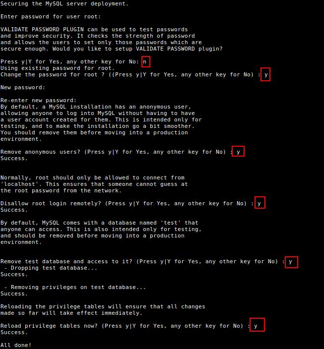 Secure MySQL Installation on Debian