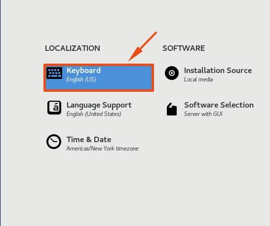 Select Keyboard Option