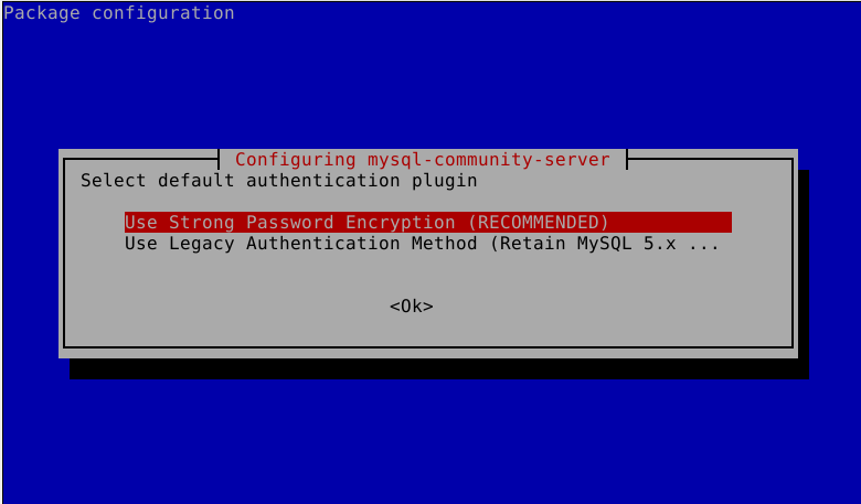 Set MySQL Password Authentication