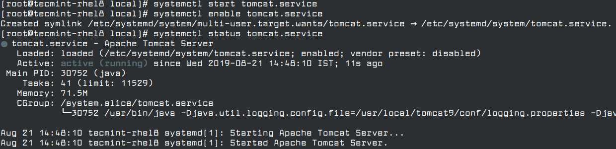Run Apache Tomcat Under Systemd
