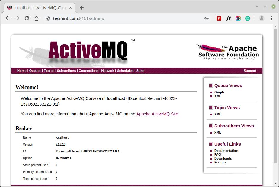 ActiveMQ Admin Web Console