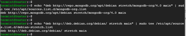 Add MongoDB Repository on Debian