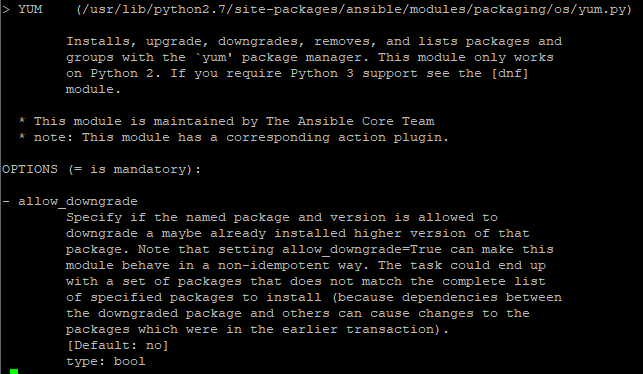 Ansible Check Yum Module