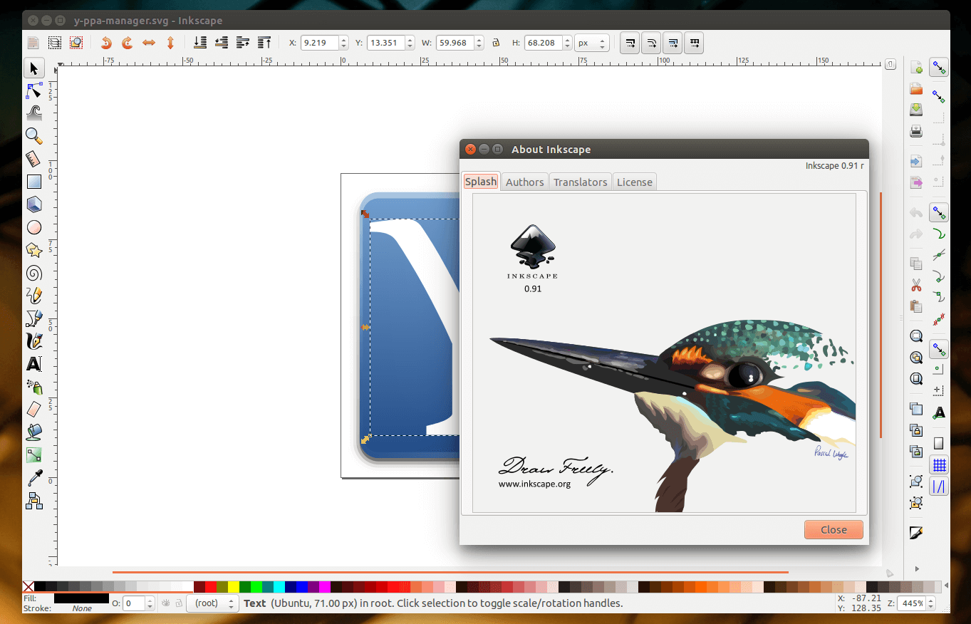Inkscape - vector graphics editing and illustration tool