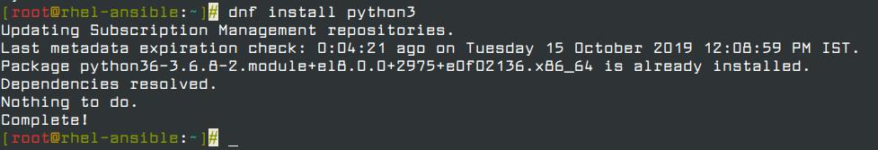 Install Python3 in RHEL 8