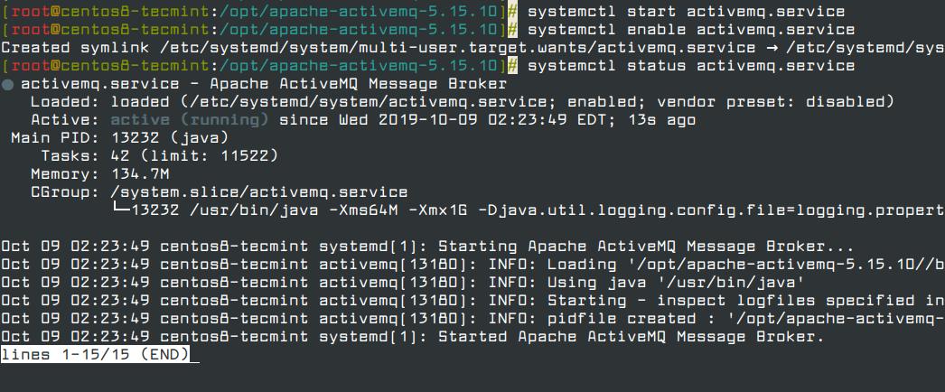 Start ActiveMQ Service