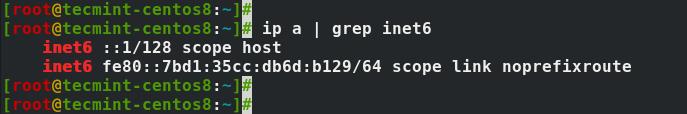 Check IPv6 Status in CentOS 8