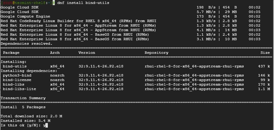 Install Bind-Utils in CentOS