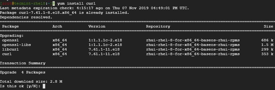 Install Curl in CentOS