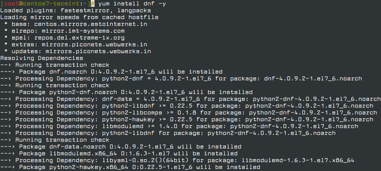 Install dnf in CentOS 7