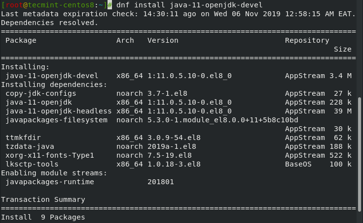 Cài đặt Java trên CentOS 8