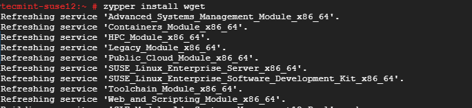 Install Wget on OpenSUSE