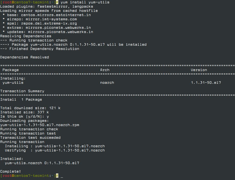 Install yum-utils in CentOS 7