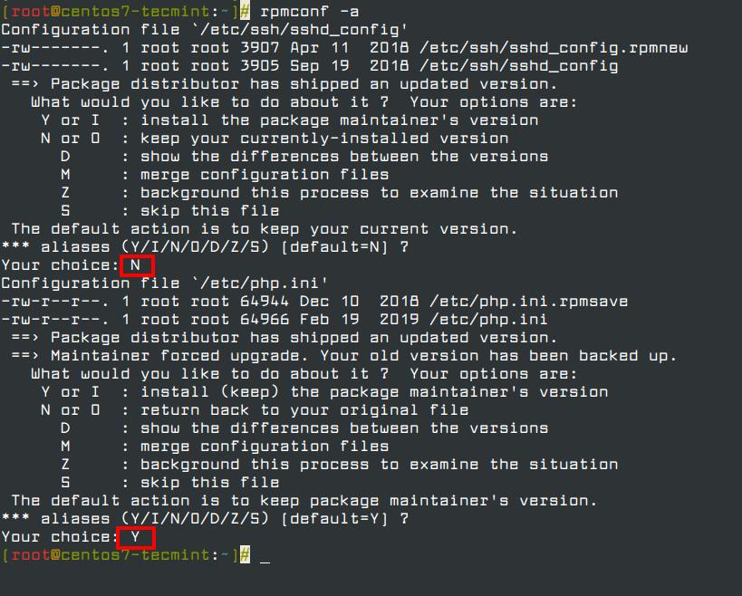 Keep Default RPM Settings