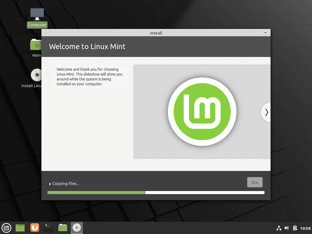 Linux Mint Installation Process