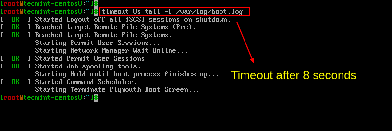 Set Time Limit to Linux Commands