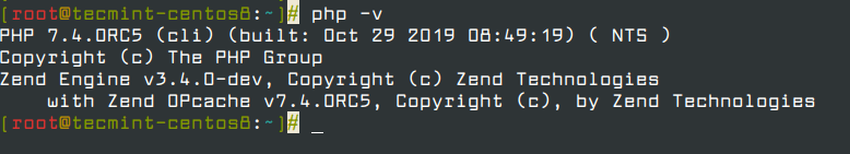 Verify PHP Installed Version