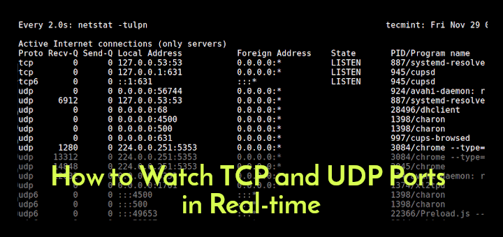 Watch TCP and UDP Ports in Real-time