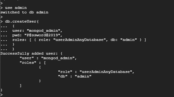 Create Admin User in MongoDB