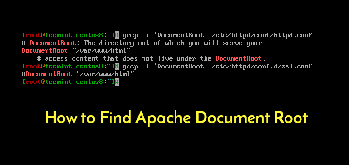 Find Apache Document Root in Linux