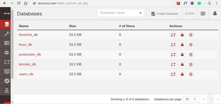 Install CouchDB in CentOS 8