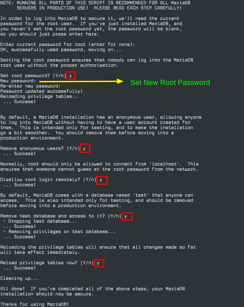Secure MariaDB in CentOS 8