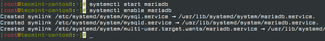 Start and Enable MariaDB Service