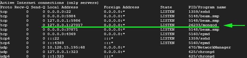 Verify MongoDB Port
