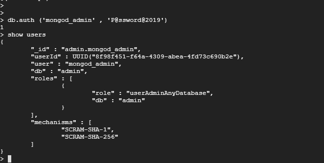 Verify MongoDB User Authentication