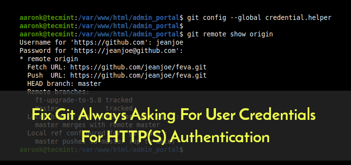 Fix Git User Credentials For HTTPS Authentication