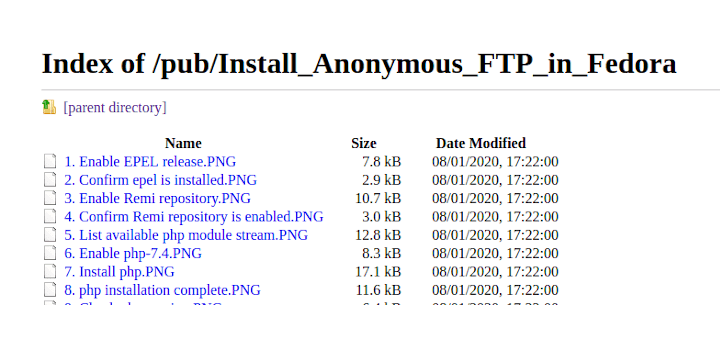 Install Anonymous FTP in Fedora