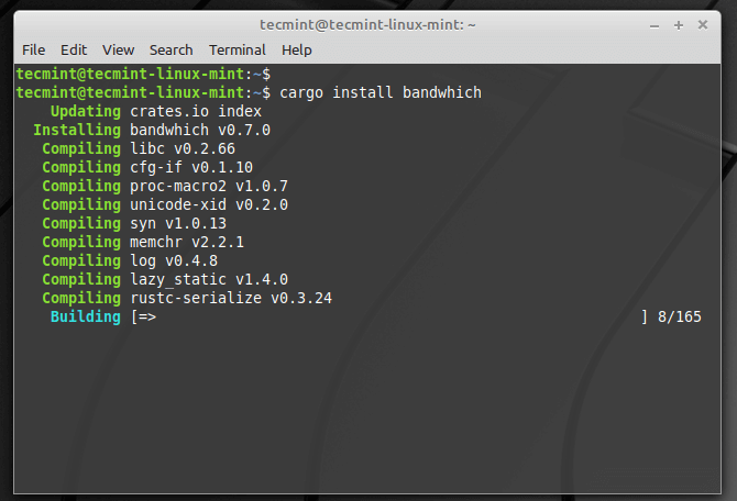Install Bandwhich in Linux
