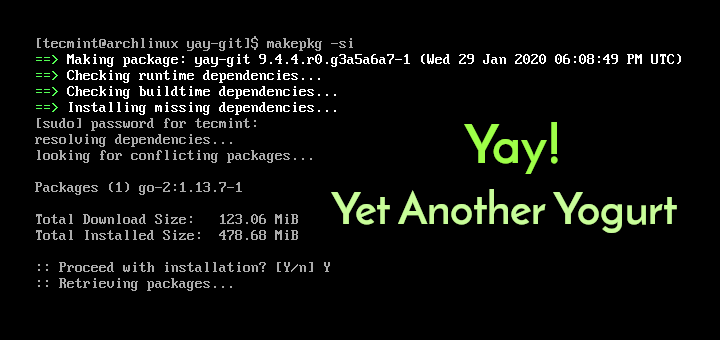 Install Yay AUR Helper in Arch Linux