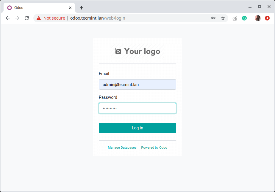 Odoo Web Login