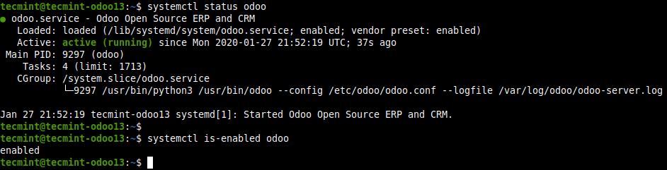 Check Odoo Status