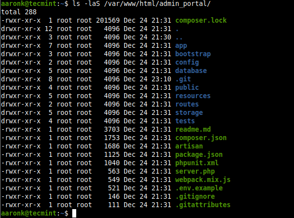 List All Files Sort By Sizes