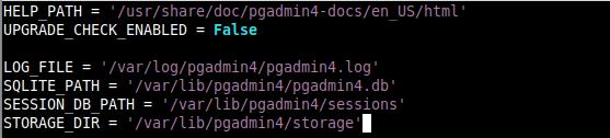Configure PgAdmin