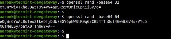 Generate PSK Key Using OpenSSL Command