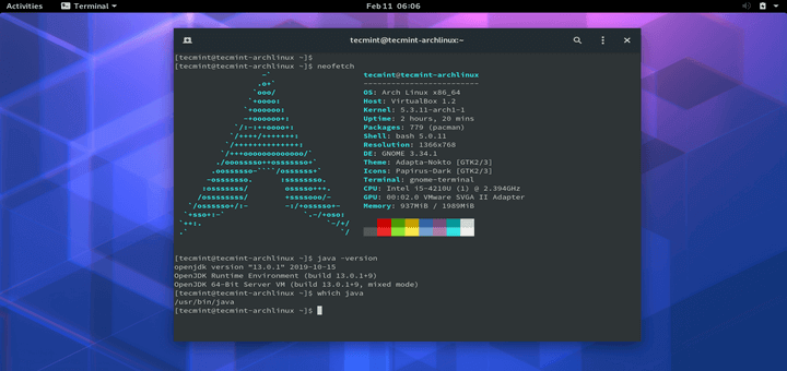 Install Java in Arch Linux